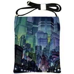 City Night Landmark Shoulder Sling Bag
