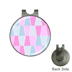 Geometric Pattern Design Pastels Hat Clips With Golf Markers