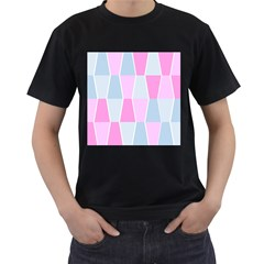 Geometric Pattern Design Pastels Men s T Shirt (black) by Sudhe