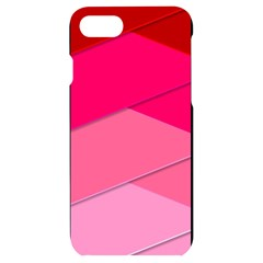 Geometric Shapes Magenta Pink Rose Iphone 7/8 Black Frosting Case