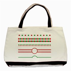 Christmas Borders Frames Holiday Basic Tote Bag (two Sides)