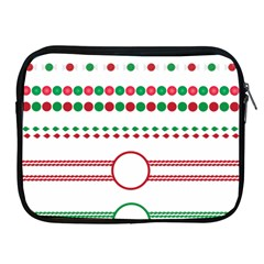 Christmas Borders Frames Holiday Apple Ipad 2/3/4 Zipper Cases