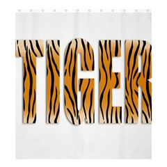 Tiger Bstract Animal Art Pattern Skin Shower Curtain 66  X 72  (large)