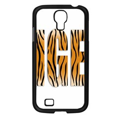 Tiger Bstract Animal Art Pattern Skin Samsung Galaxy S4 I9500/ I9505 Case (black)