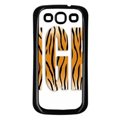 Tiger Bstract Animal Art Pattern Skin Samsung Galaxy S3 Back Case (black)