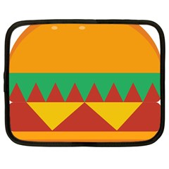 Burger Bread Food Cheese Vegetable Netbook Case (large)