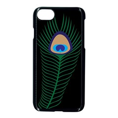 Peacock Feather Iphone 8 Seamless Case (black) by Sudhe