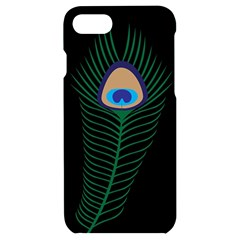 Peacock Feather Iphone 7/8 Black Frosting Case by Sudhe