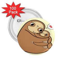 Sloth 2 25  Buttons (100 Pack)