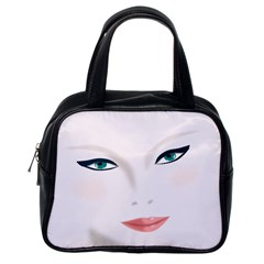 Face Beauty Woman Young Skin Classic Handbag (one Side)