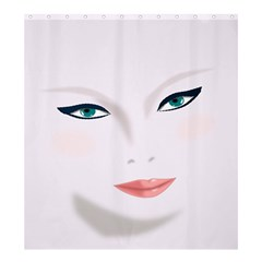 Face Beauty Woman Young Skin Shower Curtain 66  X 72  (large)