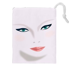 Face Beauty Woman Young Skin Drawstring Pouch (xxl)