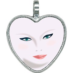 Face Beauty Woman Young Skin Heart Necklace
