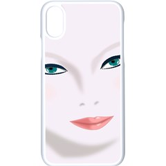 Face Beauty Woman Young Skin Iphone Xs Seamless Case (white)