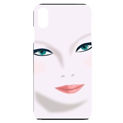 Face Beauty Woman Young Skin Iphone Xs Max Black Frosting Case by Sudhe
