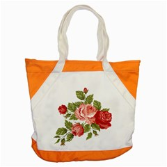 Flower Rose Pink Red Romantic Accent Tote Bag
