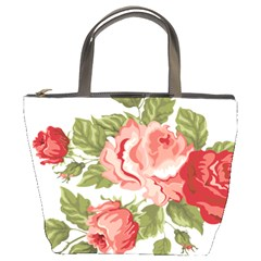 Flower Rose Pink Red Romantic Bucket Bag