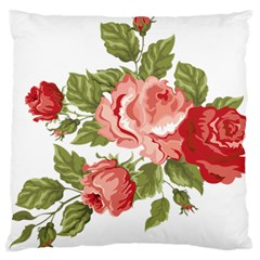 Flower Rose Pink Red Romantic Standard Flano Cushion Case (two Sides)