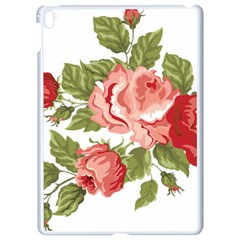 Flower Rose Pink Red Romantic Apple Ipad Pro 9 7   White Seamless Case
