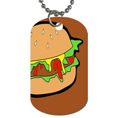 Burger Double Dog Tag (two Sides)