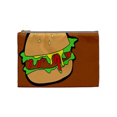 Burger Double Cosmetic Bag (medium)