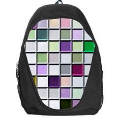 Color Tiles Abstract Mosaic Background Backpack Bag by Sudhe