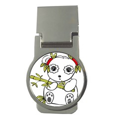 Panda China Chinese Furry Money Clips (round)  by Sudhe