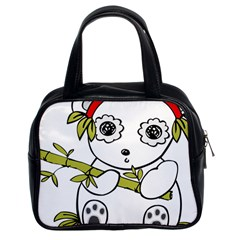 Panda China Chinese Furry Classic Handbag (two Sides)