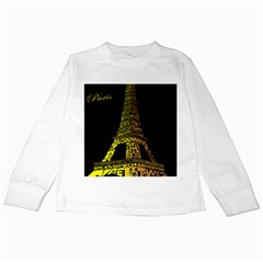 The Eiffel Tower Paris Kids Long Sleeve T Shirts