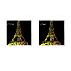 The Eiffel Tower Paris Cufflinks (square) by Sudhe