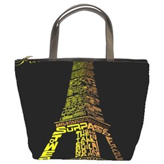 The Eiffel Tower Paris Bucket Bag by Sudhe