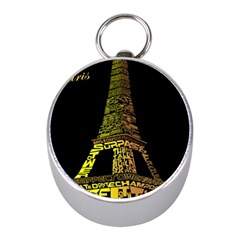 The Eiffel Tower Paris Mini Silver Compasses by Sudhe