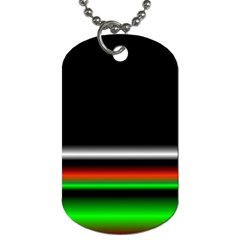 Colorful Neon Background Images Dog Tag (two Sides)