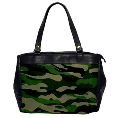 Green Military Vector Pattern Texture Oversize Office Handbag