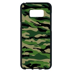 Green Military Vector Pattern Texture Samsung Galaxy S8 Plus Black Seamless Case