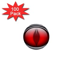 Red Eye 1  Mini Buttons (100 Pack)