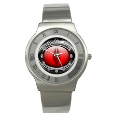 Red Eye Stainless Steel Watch