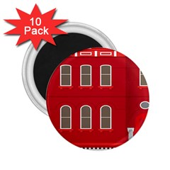 Red House 2 25  Magnets (10 Pack)  by Sudhe