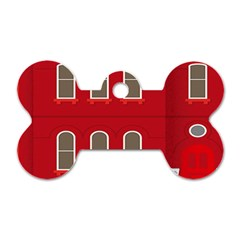 Red House Dog Tag Bone (one Side)