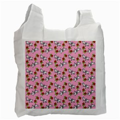 Lamb Pattern Pink Recycle Bag (one Side)