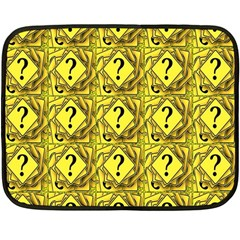 Questions Double Sided Fleece Blanket (mini)  by ArtworkByPatrick