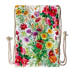 Painting Flowers Drawstring Bag (large) by goljakoff
