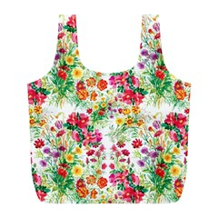Summer Flowers Full Print Recycle Bag (l)