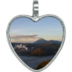 Sunrise Mount Bromo Tengger Semeru National Park  Indonesia Heart Necklace