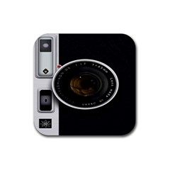Vintage Camera Rubber Coaster (square)  by Sudhe