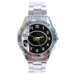 Vintage Camera Stainless Steel Analogue Watch