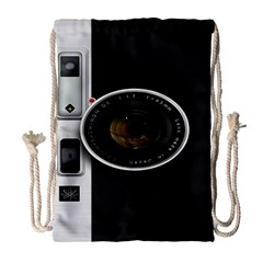 Vintage Camera Drawstring Bag (large)
