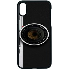 Vintage Camera Iphone X Seamless Case (black)