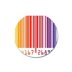 Colorful Gradient Barcode Magnet 3  (round)