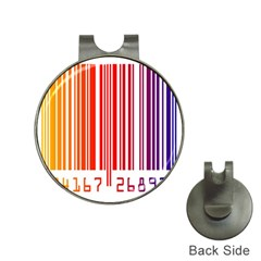 Colorful Gradient Barcode Hat Clips With Golf Markers